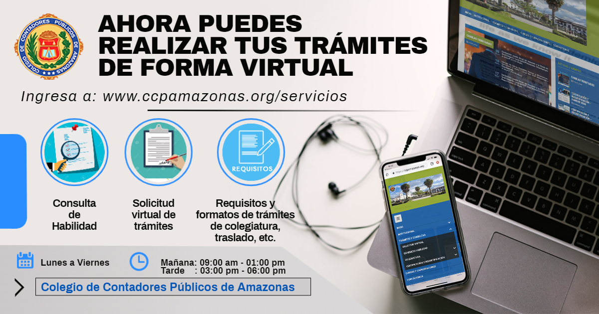 Thumbnail for the post titled: AHORA PUEDES REALIZAR TUS TRÁMITES DE FORMA VIRTUAL
